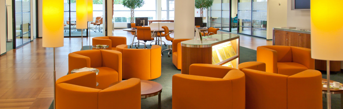 Commercial Interior - Orange Chairs
